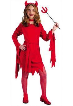 Naked girl in devil costume