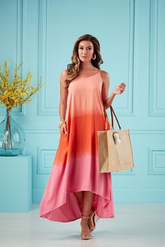 Get summer ready with the top trend of the season: tie dye! #mudpiegift #maxi #tiedye Tie Dye Maxi, Dyes, Shoulder Straps, Blue Dresses, Beautiful Dresses, High Low, Swimsuit, Dip Dyed, Pockets