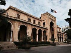 La résidence des pins à #Beyrouth. Encore merci pour l'accueil chaleureux de toute l'ambassade de France.