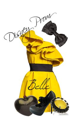 """Disney Prom : Belle"" by alphawhiskey ❤ liked on Polyvore"