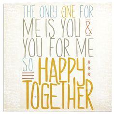 Lyricology: Happy Together Wall Art