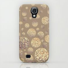 Bokeh Dots-Cafe Latte Samsung Galaxy S4 Case by Lisa Argyropoulos