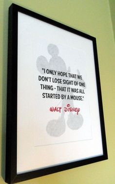 Walt Disney Mickey Mouse Quote Print by TheWordAssociation on Etsy, £7.99