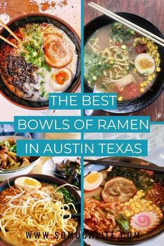 I tried a bunch of different ramen shops, including the big popular ones and the lesser known hole-in-the-walls to give you the best bowls of ramen in Austin. #atxeats #visitaustin #austintexas