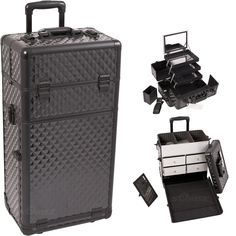 Black Diamond Trolley Makeup Case w/ Drawers on TheCosmeticSpace.com!