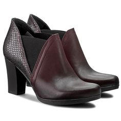 Magasított cipő MACIEJKA - 02211-23 00-1 Bordó 1f16bc0bc5