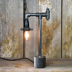 Steampunk Desk Lamp with Gears  Industrial Table Lamp 106