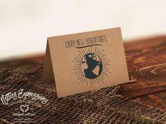Enjoy new adventures - Graduation Card Handmade Greeting Card Designs, Retirement Cards, Graduation Cards, New Adventures, Grocery Store, Card Stock, Envelope, Custom Design, Place Card Holders