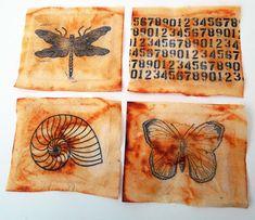 Inky Dinky Doodle: Let's Play: Stamped tea bags tutorial