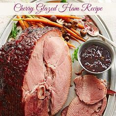This holiday enjoy this Cherry Glazed Ham Recipe to delight your guests. #Easter #dinner #recipe