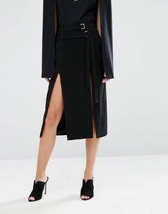 Lavish Alice | Lavish Alice Double Split Midi Skirt