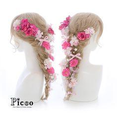 .  .   Gallery 608   .  【 結婚式 #髪飾り 】  .  #Picco #オーダーメイド髪飾り #カラードレス #結婚式  .  ビビッドピンクのローズ&ガーベラをメインに、ドレスに合わせた小花で盛り付けたラプンツェル風仕上げです❤️ ✨.  三つ編み部分にはパールとリボンをちりばめてさらに可愛さをプラスしました #ピンク  #ビビッド  #ラプンツェル  #プリンセス  #ウェディングヘア  .  デザイナー @mkmk1109  .  .  .  #ヘッドパーツ #ヘッドアクセ #ヘッドドレス #花飾り #造花  #着物 #披露宴 #パーティー #プレ花嫁 #花嫁  #ウェディングフォト #結婚式前撮り #結婚式準備 #ドレス #プレ花嫁  #ウェディング #ウェディングアイテム #ブライダルフォト #ウェディング小物    #rapunzel #wedding