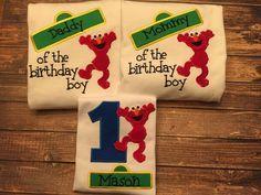 Boys elmo sesame street first birthday by LittleChickiesClips
