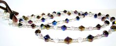Black and Clear Beaded Glass Eyeglass Chain Lanyard by nonie615, $16.00