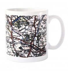 1919 - 1926 Popular Edition Map Mug | Mugs | Exclusively Personal