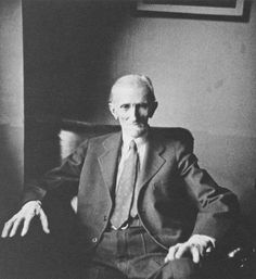 Nikola Tesla, the master of lightning in his room at the Hotel New Yorker.