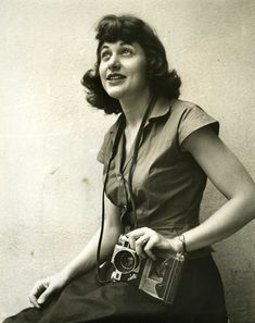 "Ruth Orkin photographer. (1921 - 1985) ""Experience, skill, endurance, energy, salesmanship, organization, wheedling, climbing, gatecrashing, etc. – plus an eye and patience."""