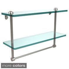 Shop for 16-inch Two Tiered Glass Shelf with Integrated Towel Bar. Get free delivery at Overstock.com - Your Online Home Improvement Shop! Get 5�0in rewards with Club O! - 17479317