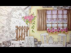 ROMANTIC COUNTRY - color tutorial part 2 - prismacolor pencils - YouTube