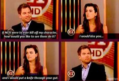 michael weatherly and cote de pablo Best Tv Shows, Favorite Tv Shows, Movies And Tv Shows, Funny Love, You Funny, Hilarious, Michael Weatherly, Ziva And Tony, Ncis Cast
