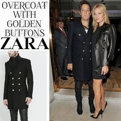 Male Fashion Trends: Jamie Hince y su Overcoat with Golden Buttons de Zara