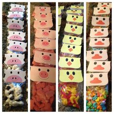 Barnyard party favors-maybe fill with color coordinated candies