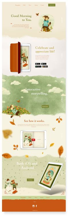 Designs | Create the website for a popular children's book | Web page design contest