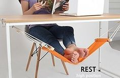 This foot hammock lets you relax your feet or a tiny hamster at your desk ($13). | 17 Things To Make Your Soul-Crushing Workday Better