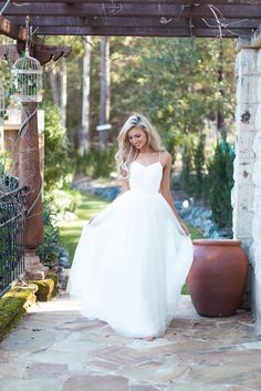Made With Love's Jayne Wedding Dress with a lace bodice and tulle skirt::