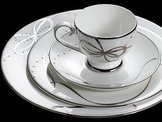 Crystal Ribbon | ProunaUSA Fine China Luxury Dinnerware