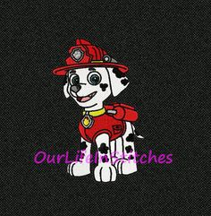 "Shoply.com -INSTANT DOWNLOAD : 4 Sizes -  ""Chase from Paw Patrol"" Machine Embroidery Design - Made for Brother Machines .PES. Only $3.99"