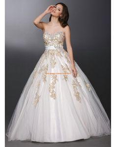 Davinci A-Linie Romantische Traumhafte Brautkleider aus Softnetz mit Applikation
