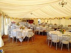 Pretty marquee decorations - JL Marquees.