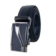Men's Classic Dress Fashion Leather Sliding Buckle 35mm Ratchet Belt Black & Brown