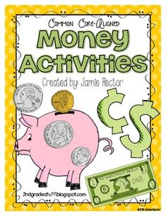 Money Activities for any Money Unit - Aligned to CCSS: These FUN activities can be used to accompany any money unit or to serve as a review of money!