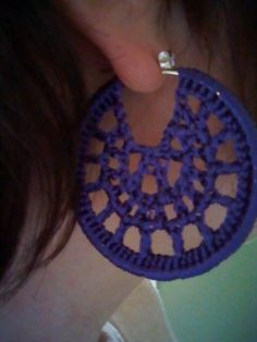 Hoop Earring - free crochet tutorial pattern