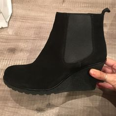 La Canadienne black suede ankle boots La Canadienne black suede ankle boots. Used as displays. In almost new condition. Comes with box La canadienne  Shoes Ankle Boots & Booties