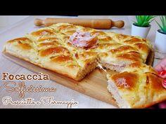 Bruschetta with pesto, tomatoes and burrata - Healthy Food Mom Focaccia Pizza, Focaccia Recipe, Strudel Recipes, Bread Recipes, How To Cook Ham, How To Make Bread, Gourmet Recipes, Cooking Recipes, Mozarella