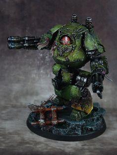 40k - Salamanders Contemptor Dreadnought by m1cromondo, via Flickr