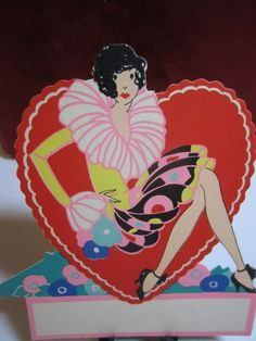1920's30's  gibson art deco die cut unused place by puffadonna, $8.00