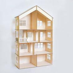 Modular doll house 4 floors dollhouse Wood dollhouse | Etsy Wooden Dollhouse Kits, Dollhouse Toys, Victorian Dollhouse, Modern Dollhouse, Dollhouse Furniture, Loft Furniture, Barbie Furniture, Dollhouse Miniatures, Doll House Plans