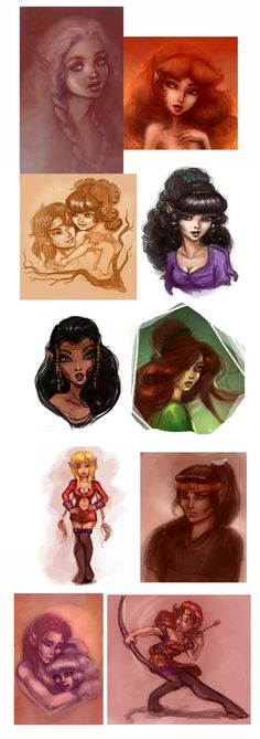 Request Sketchdump, pt.7: Elfquest by Elf-in-mirror.deviantart.com on @deviantART