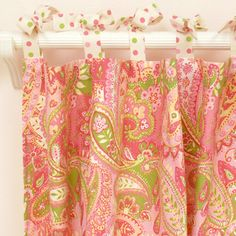 Love these adorable curtains for a little girls bedroom!