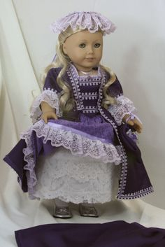 Colonial gala gown for American girl by RussianLilyDesigns on Etsy, $50.00