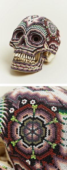 Beaded Skulls by Our Exquisite Corpse -saw these in Puerto Vallarta really neat