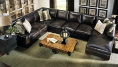 Howard Sectional Sofa #leather #everyonewillfit