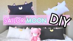 【DIY】『Luna and Artemis』Cat Pillow Cushion【Sailor Moon】| snowbubblemonster