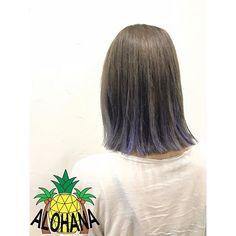 WEBSTA @ alohana.hair - ダブルカラー、グラデハイライト毛先に青紫をいれて遊びを✨ *@alohana.hair #ALOHANA#okinawa#hairsalon#haircolor#hairstyle#hair#外国人風カラー#グラデーションカラー#メッシュ#グレージュ#マニパニ#青紫#メッシュカラー#ダブルカラー#グレーアッシュ#3dカラー#ハイライト#アロハナ#沖縄#ハワイアン#ヘアカラー#シールエクステ#ヘアサロン#美容室#那覇#古島#沖縄美容室#ヘアスタイル#ゆる巻き#コテ巻き