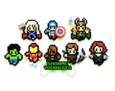 The X-Men Perler Sprites Choose 1 or Pick your por ShowMeYourBits