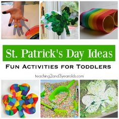 A playful collection of St. Patrick's Day Activities for Toddlers that include art, sensory, fine motor, and snacks.